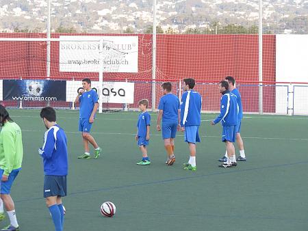 II Entrenamiento Primer equipo con la cantera mayo 2014
